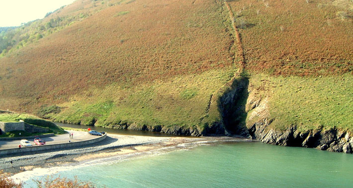 Cwmtydu Cove from the Coastal Path